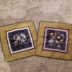 vintage Japanese silk pillow covers